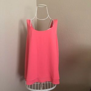 Banana Republic Coral Shell Tank Top Blouse Sz L